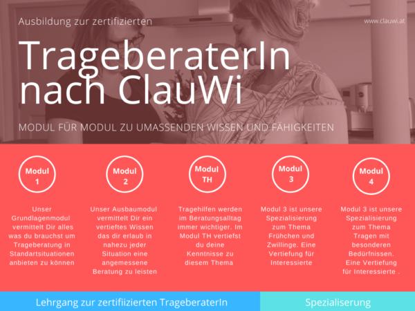 Modulare Ausbildung zum / zur Trageberater:in bei ClauWi Österreich