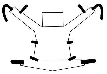 Skizze einer Tragehilfe: Fullbuckle